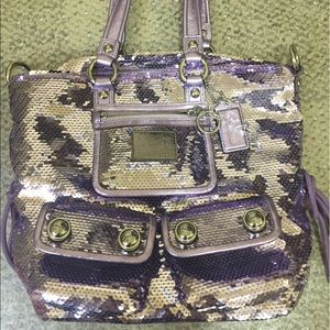 Coach Handbags - Rare lilac sequin coach purse