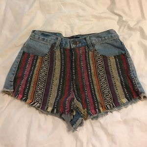 Jean shorts with cute pattern!!!