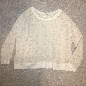 Free People lace sweatshirt