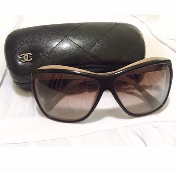 ab7d392f6ada6 CHANEL Accessories - Chanel 5153 cat eye two toned sunglasses