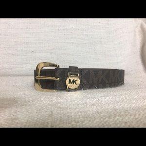 Michael Kors brown belt signature logo