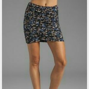 NWT Free People Blue Floral Scrunch Skirt Small