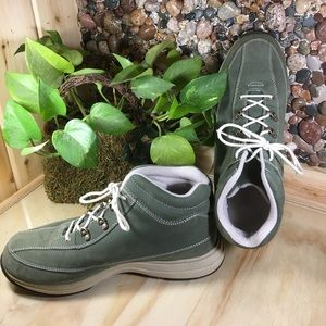 Propet Shoes - Propet Leather Upper olive Green Ankle Shoes 10W