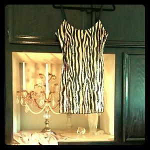 "Free People Dresses & Skirts - ""free people"" ZEBRA SEQUINED SEXY/FUN DRESS  SZ M"
