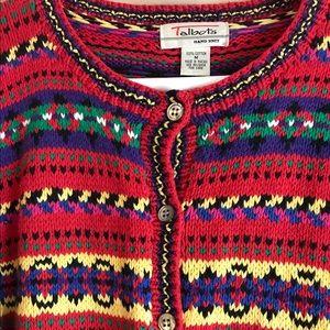 Talbot's Multicolored Cardigan Sweater Medium