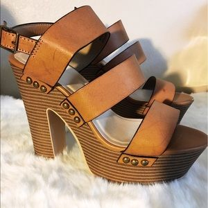 just fab Shoes - Brand new strap heels