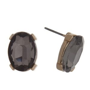 👂🏼Black Diamond Oval Gem Post Earrings
