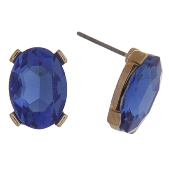 Fresh & Co. Jewelry - 💎👂🏼Sapphire Oval Gem Post Earrings