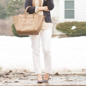 •J. Crew• Matchstick White Jeans