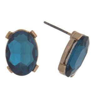 Fresh & Co. Jewelry - 🇨🇺🌈NEW! Teal Oval Gem Posts