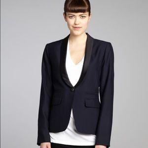 Smythe Jackets & Blazers - NWT $595 One Button Blazer with Black Satin Lapel
