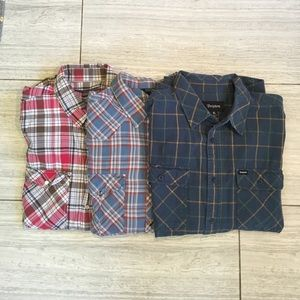 Brixton Other - 3 Western/Plaid Men's Buttondowns