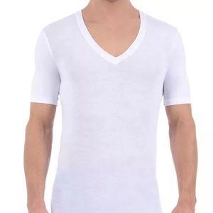 Tommy John Other - NWOT Tommy John Cotton Basics Deep V Neck,white,L