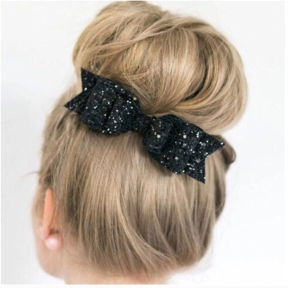 95 Off Accessories By U Couture Accessories French Style Black Fashion Glitter Bow Barrette