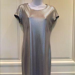 Silver Metallic Summer Dress