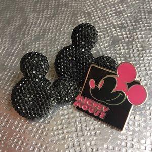 Disney Jewelry - Sparkling Mickey Mouse Earrings + FREE Enamel Pin