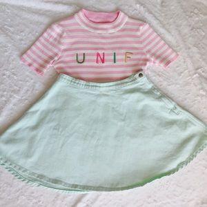 Creamy mint pastel American apparel circle skirt