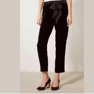 Anthropologie Pants - NEW! Anthro Ribboned Velvet Trousers Sz 4 Tall