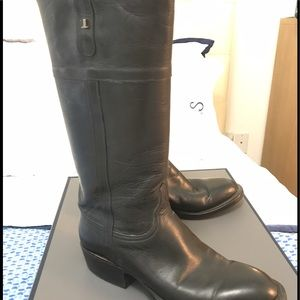 Lucchese Shoes - Lucchese Riley Black Lux Calf English Rider Boot