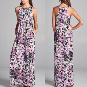 Pink Peplum Boutique Dresses & Skirts - 🆕 MADE IN USA Spring summer floral maxi dress