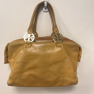 Tory Burch Mustard Leather Medium Tote