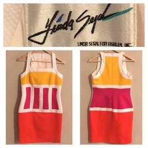 Vintage Linda Segal Color-block Mod Dress