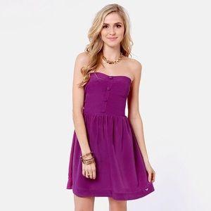 Roxy Purple Strapless Dress