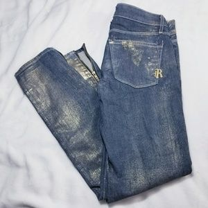 "Rich & Skinny Denim - {Rich & Skinny} ""Goldie Cut"" Zip Ankle Jeans"