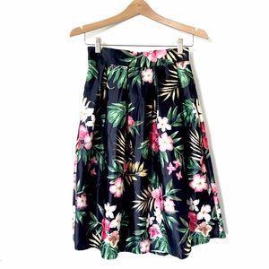 Choies Dresses & Skirts - Choies Floral Tropical Print Midi A-Line Skirt C1