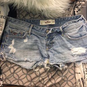 Distressed Hollister denim shorts