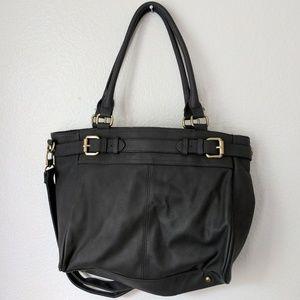 Merona Handbags - Black Leather Handbag