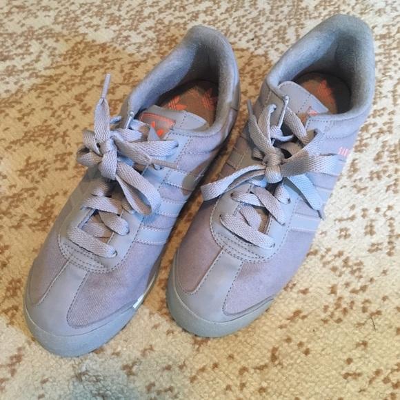 770da9afe2d adidas Shoes - Grey and coral Samoa Adidas