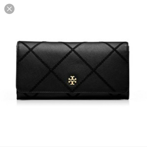 5b1b32c02ff Tory Burch Bags | Iso Robinson Stitched Envelope Continental Wallet ...