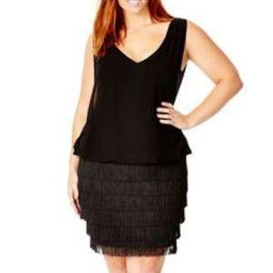 City Chic Dresses & Skirts - City Chic Black Fringe Dress, 14W (XS)