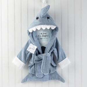 Baby Aspen Other - Baby Aspen Shark Bathrobe size 0-9 months