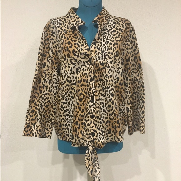 64 off chico 39 s tops chico 39 s no iron animal print tie for Chicos no iron shirts