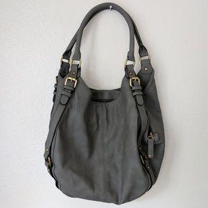 Merona Handbags - Grey Leather Handbag