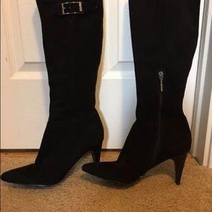 Calvin Klein suede boots.