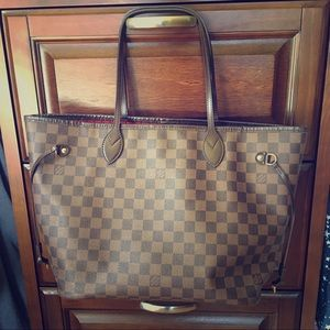 Louis Vuitton Handbags - Louis Vuitton Neverfull MM Damier Ebene Authentic