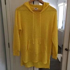 LNA Tops - LNA Super Soft Yellow Hooded Knit