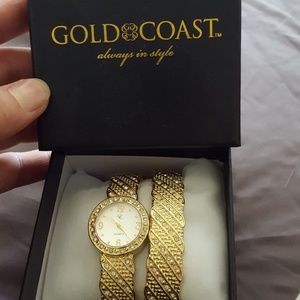 Gold coast Jewelry Watch And Bracelet Cuff Style Poshmark