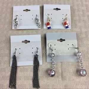 Jewelry - 4 Pretty Dangle Earrings