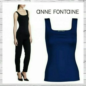 Anne Fontaine Tops - Anne Fontaine 'Lady' Wide Strap Camisole Navy Sz M