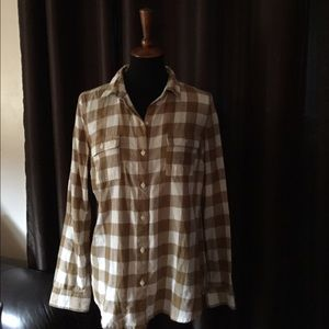 Old Navy Plaid Button Up - Size Medium
