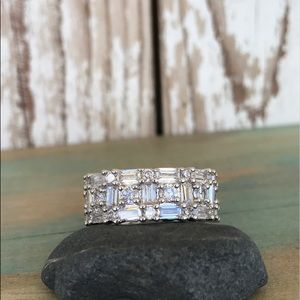 Jewelry - 🎀White sapphire and 925 Sterling ring sz 8