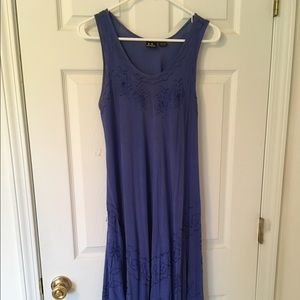 zulily Dresses & Skirts - SR Fashion Blue Dress in Rayon. Mid calf length.