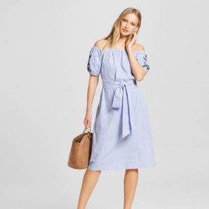 who what wear Dresses & Skirts - Who what wear embroidered belted Bardot dress
