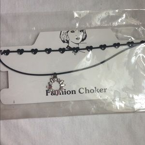 Fashion choker necklaces set of two