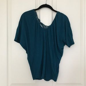 Express Top with Lace Back Design