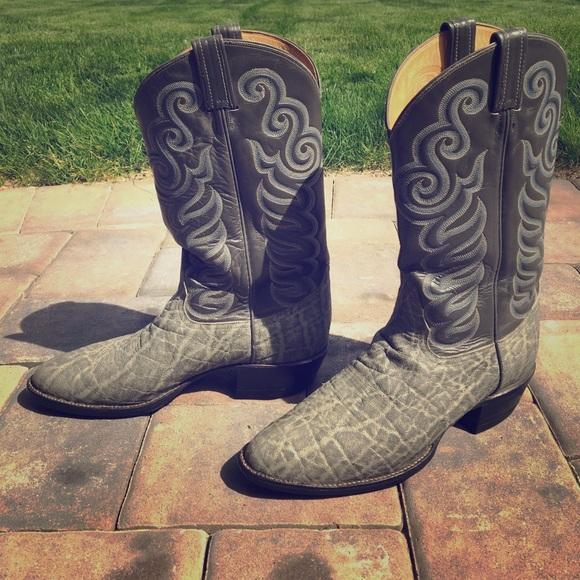 650f1d51133 Tony Lama VINTAGE elephant skin Cowboy Boots